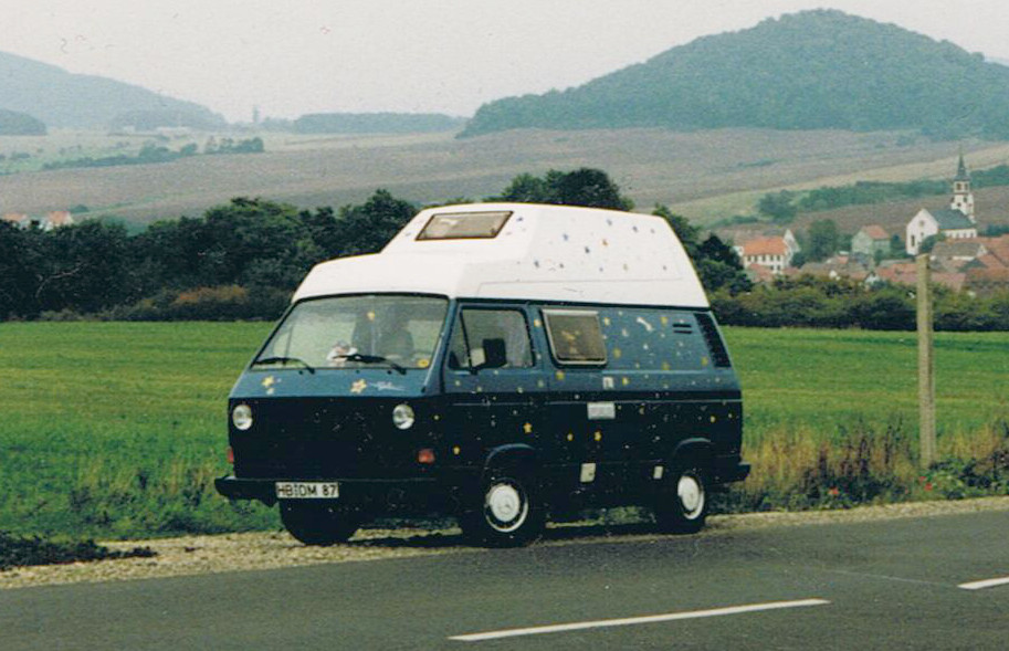 """Sternenland"" - unser ehemaliger T3-VW-Camping-Bulli"