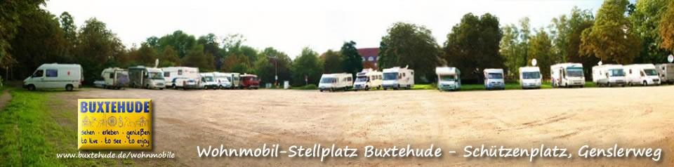 Wohnmobilstellplatz Buxtehude, südwestlich bei Hamburg