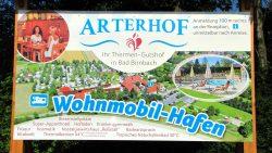 Stellplatzposter am Wohnmobilhafen Arterhof
